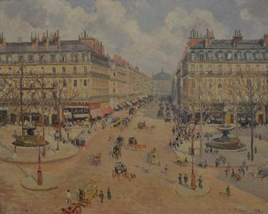 La place du Théâtre-Français, 1898, Musée de Reims, France