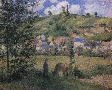 Paysage à Chaponval, 1880, Musée de Louvre, Paris
