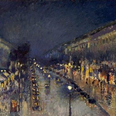 Le boulevard Montmartre, effet de nuit, 1897, National Gallery, Londres