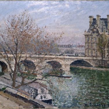 Le pavillon de la Flore et le pont Royal, 1903, Collection particulière