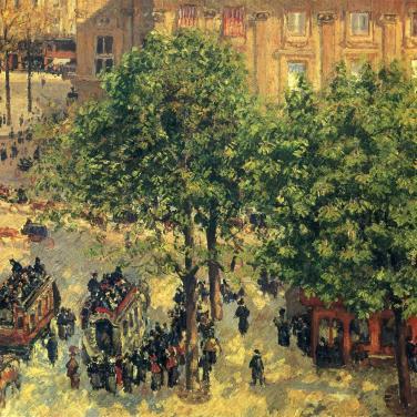 Place du Théâtre-Français, printemps, 1898, Pushkin Museum of Fine Art, Moscou, Russie