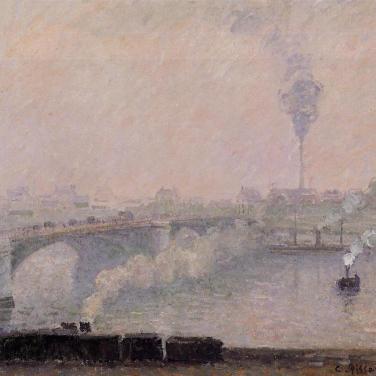 Rouen, effet de brouillard, 1898, Collection privée