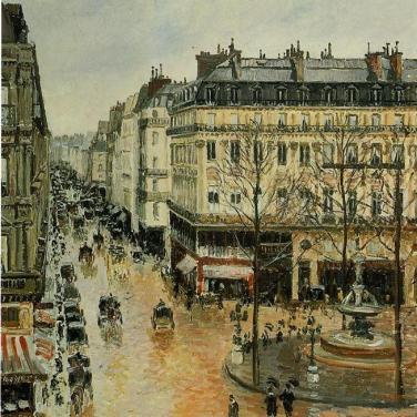Rue Saint-Honoré, après-midi, effet de pluie, 1897, Thyssen Bornemisza Museum, Espagne