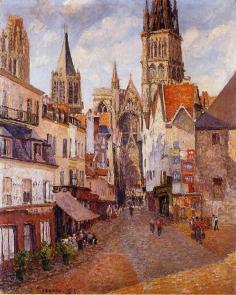 La rue de l'épicier, Rouen, 1898, Collection privée