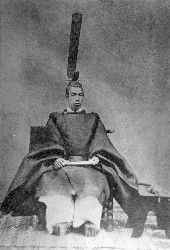 Le jeune empereur Meiji en 1872.