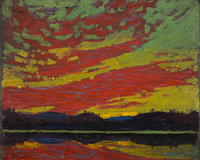 Tom Thomson, Sunset, 1915