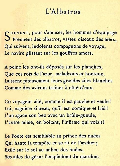 albatros poème - Copy